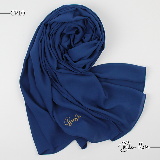 Châle en Crepe Premium - Bleu Klein