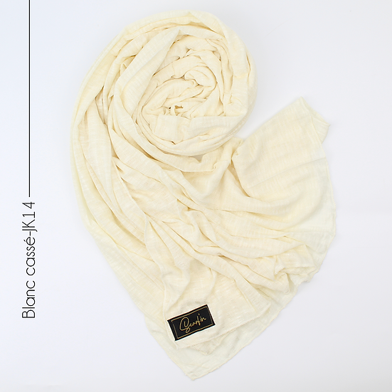 Châle en jersey koweïtien - Blanc cassé
