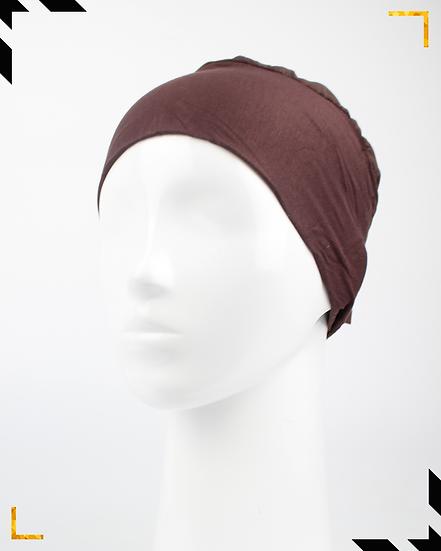 Bonnet underscarf simple - Marron cannelle