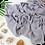 Thumbnail: Châle en crêpe premium - Gris argent