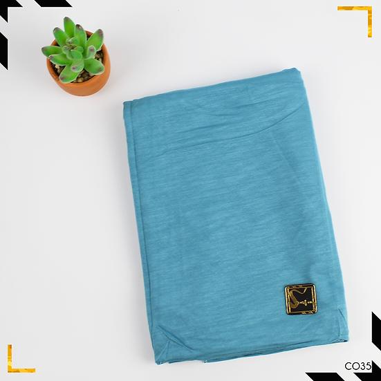 Châle en coton jersey - Bleu Bondi