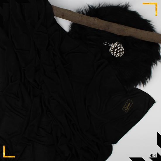 Châle en jersey chiné - Noir