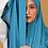 Thumbnail: Châle en Crepe Premium - Bleu acier
