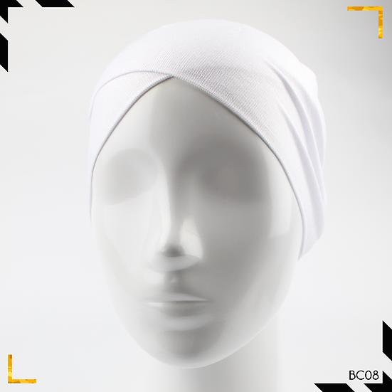 Bonnet underscarf croisé - Blanc