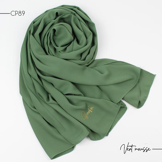 Châle en Crepe Premium - Vert mousse