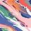 "Thumbnail: Châle ""Linis"" - Rose, vert, bleu et orange"