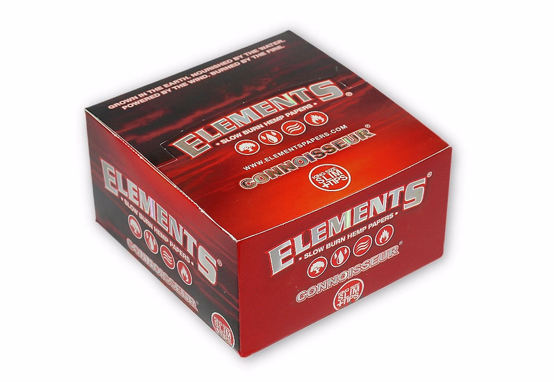 Elements RED Kingsize Slim Hemp Papers & Filters