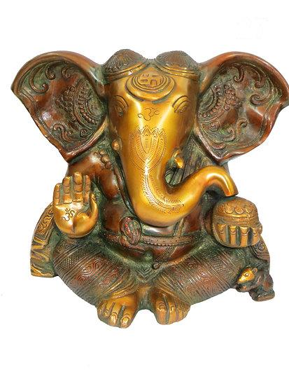 Brass Ganesh Statue (25cm/5.9kg)