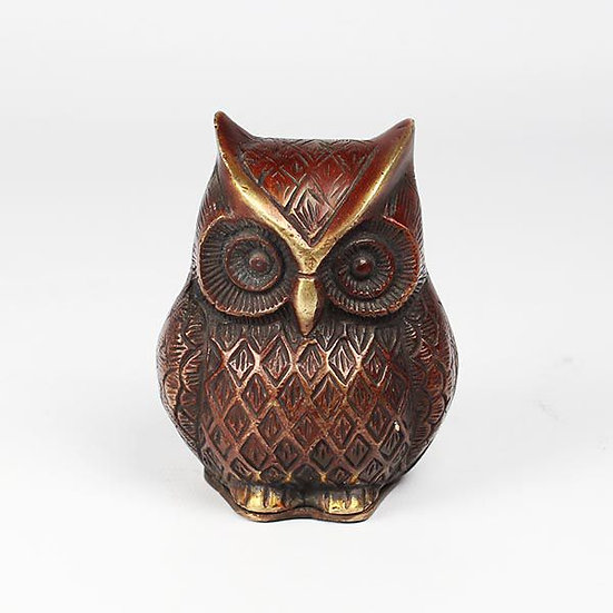 Brass Owl with Storage Compartment
