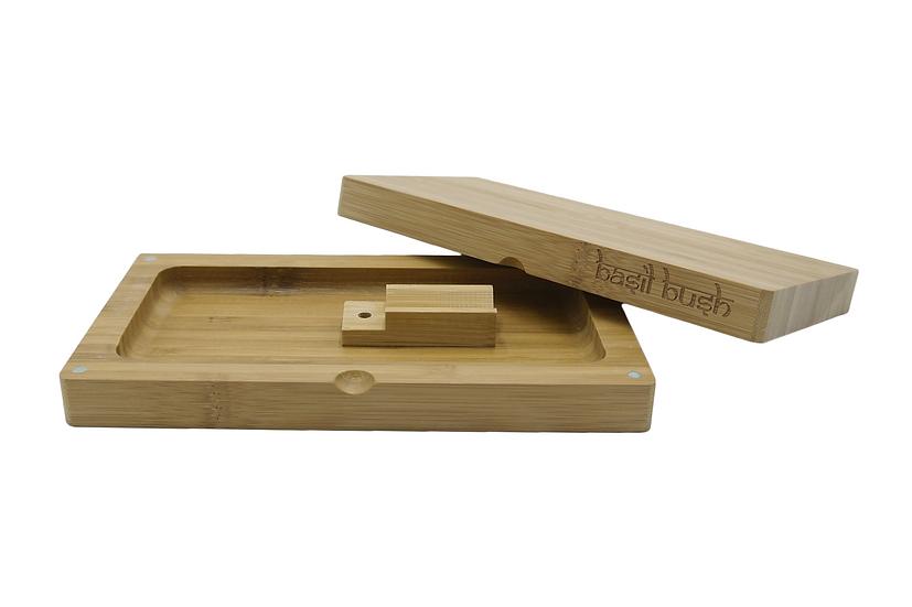 Basil Bush Bamboo Flip Rolling Tray