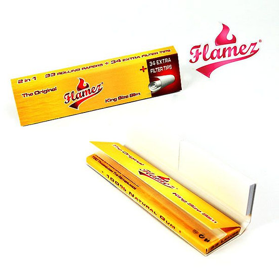 Flamez Kingsize Slim Papers & Tips