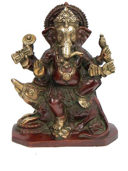 Brass Ganesh Statue (23cm/2.6kg)