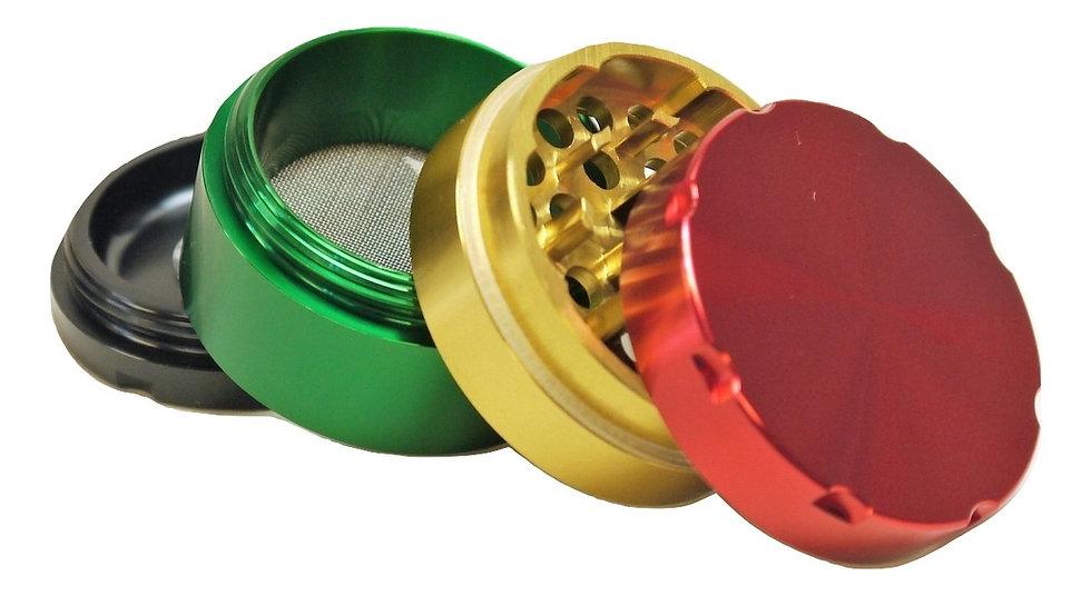 Coloured 4-Part Metal Grinders