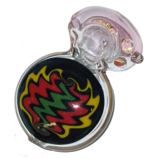 "Coloured Glass Pipe (3.5"")"