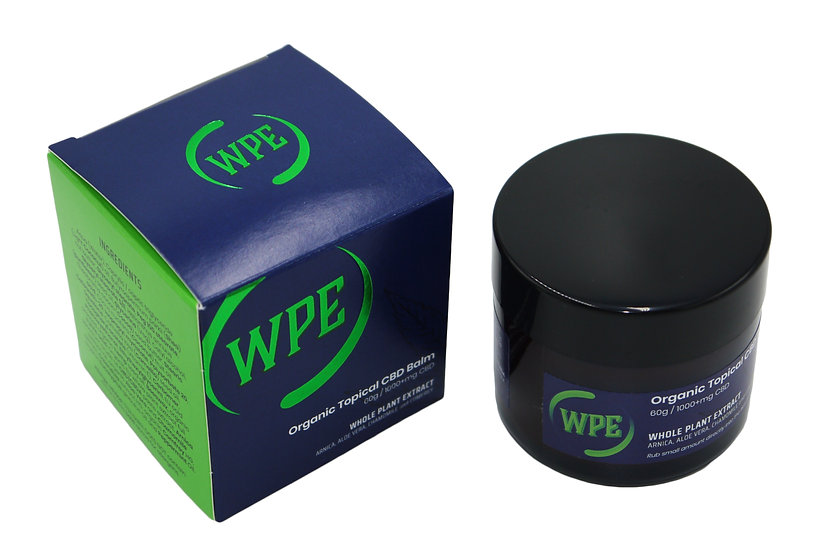 WPE Whole Plant Extract Organic CBD Balm