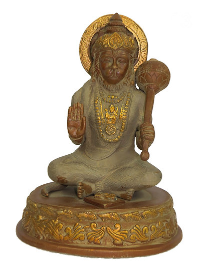 Brass Hanuman Statue (20cm/2.1kg)