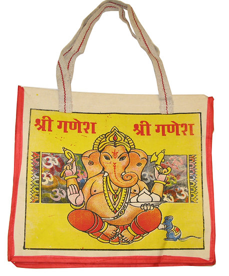 Sitting Ganesha (Yellow) Design Bag