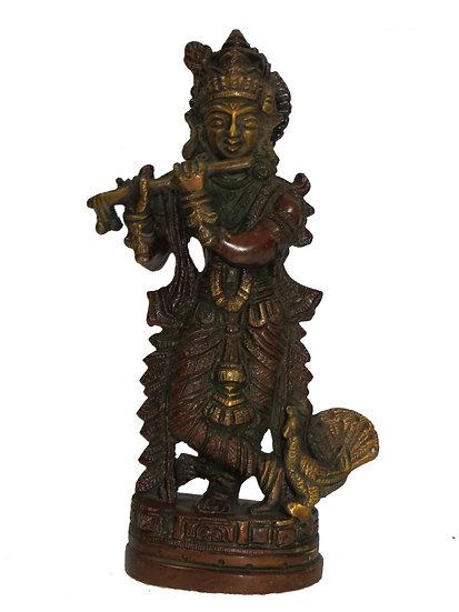 Brass Krishna Statue (20cm/1kg)