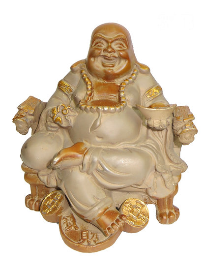 Brass Laughing Buddha Statue (21cm/2.9kg)