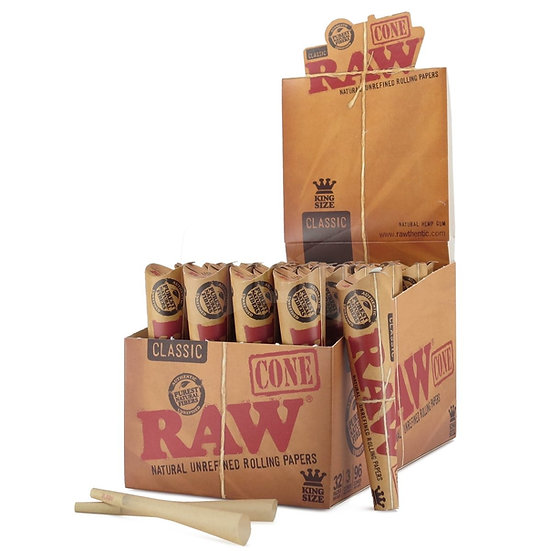 Raw Pre-Rolled Kingsize Cones