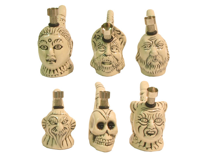 Mini Ceramic Face Bongs