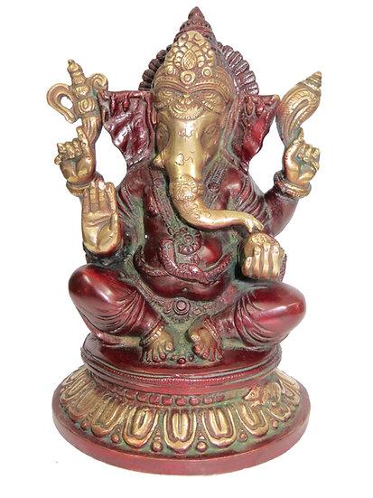 Brass Ganesh Statue (23cm/2.9kg)