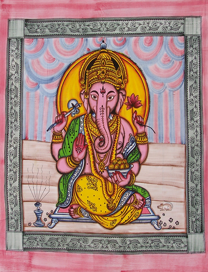 Sitting Ganesha Design (Double)