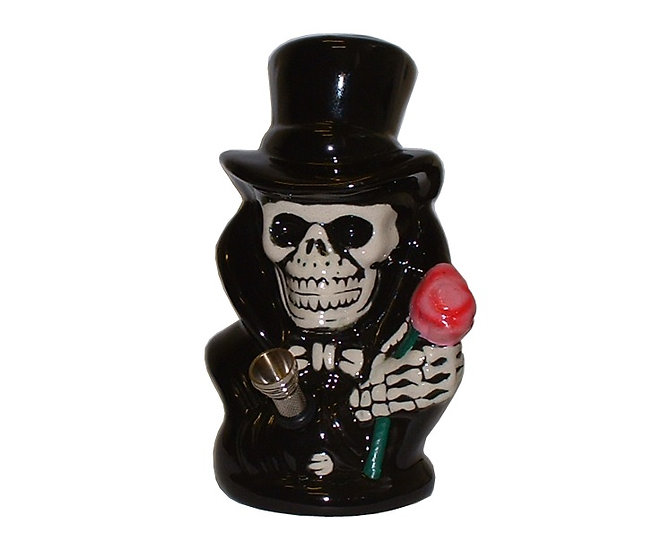 Skull in Top Hat Premium Ceramic Bong