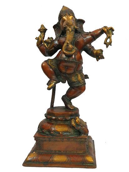 Brass Ganesh Statue (46cm/8.4kg)