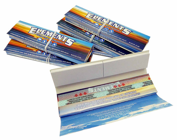 Elements Kingsize Slim Connoisseur Rice Papers with Tips