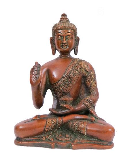 Brass Buddha Statue (18cm/1.7kg)