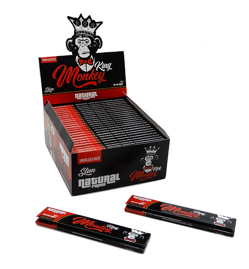Monkey King Unbleached Kingsize Slim Papers