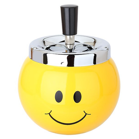 Metal Smiley Spinner Ashtray