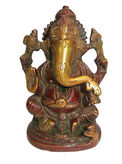 Brass Ganesh Statue (13cm/0.8kg)