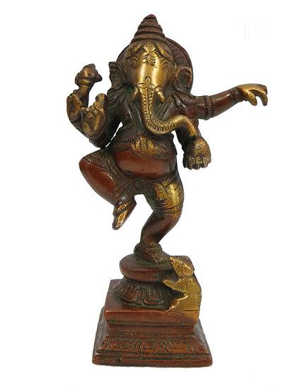 Brass Ganesh Statue (15cm/0.9kg)