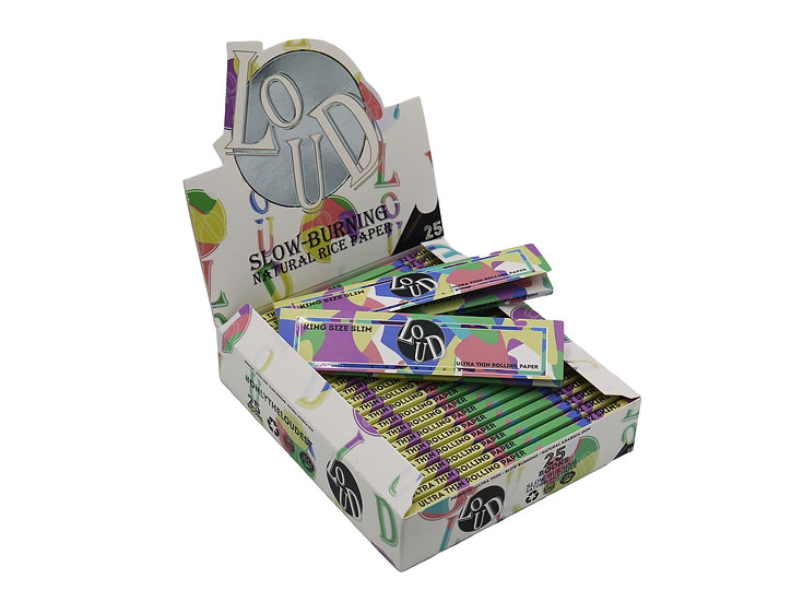 LOUD Candy (Slow-Burning) Kingsize Slim Papers