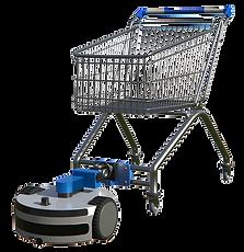 Cart Runner pulling a stray shopping cart through a parking lot