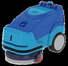 Transformer attachment on a commercial scrubber