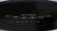 Close-up view of Dustin's screen buttons