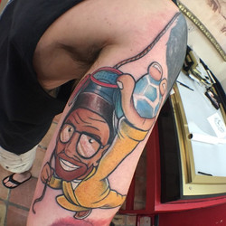 Finished up this Walter White _Breaking Bad_ tattoo today!!!