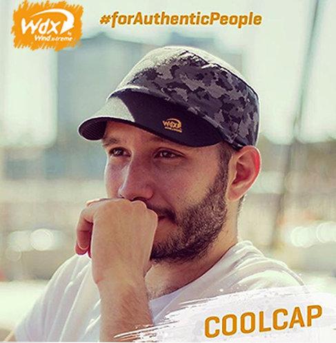 כובע ריצה מקצועי COOL CAP  מתקפל עם הגנת UV מנדף זיעה - אפור דיגיטל