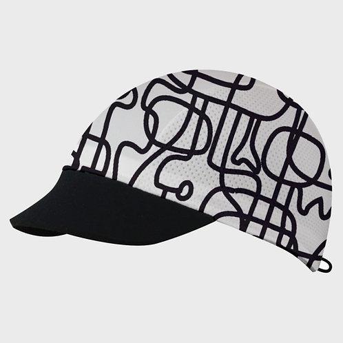 כובע ריצה מקצועי COOL CAP  מתקפל עם הגנת UV מנדף זיעה - שחור/לבן