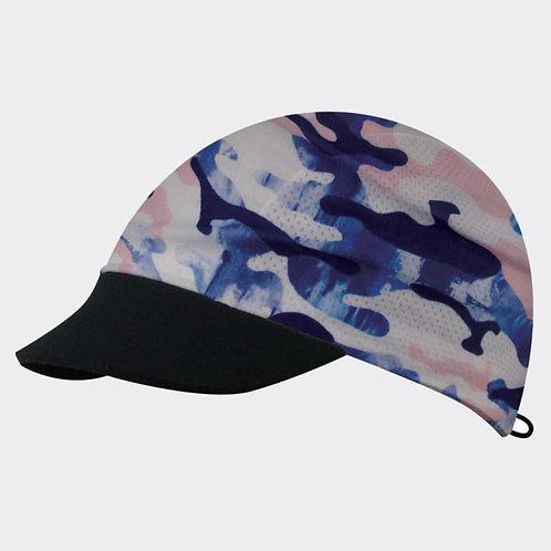 כובע ריצה מקצועי COOL CAP  מתקפל עם הגנת UV מנדף זיעה -ורוד/כחול