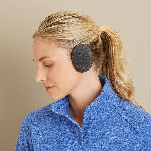 זוג מחממי אוזניים קומפקטיים בנרתיק לאחסון - שחור