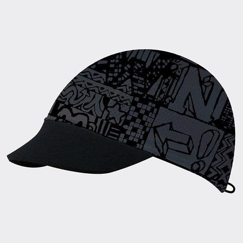 כובע ריצה מקצועי COOL CAP  מתקפל עם הגנת UV מנדף זיעה -שחור/אפור