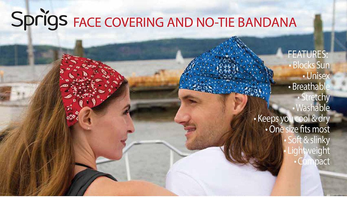 2020 Sprigs Face Covering -No Tie Bandan