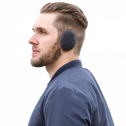 זוג מחממי אוזניים קומפקטיים בנרתיק לאחסון - אפור