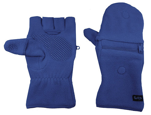כפפות חצי אצבע עם כיס לטלפון - כחול