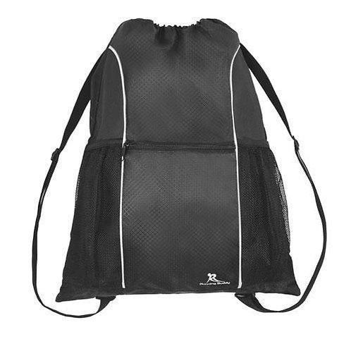 תיק גב שרוך דוחה מים איכותי מעוצב לספורט ונסיעות - שחור