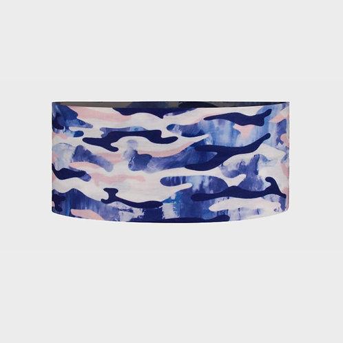 סרט לראש מנדף זיעה - CAMO כחול ורוד